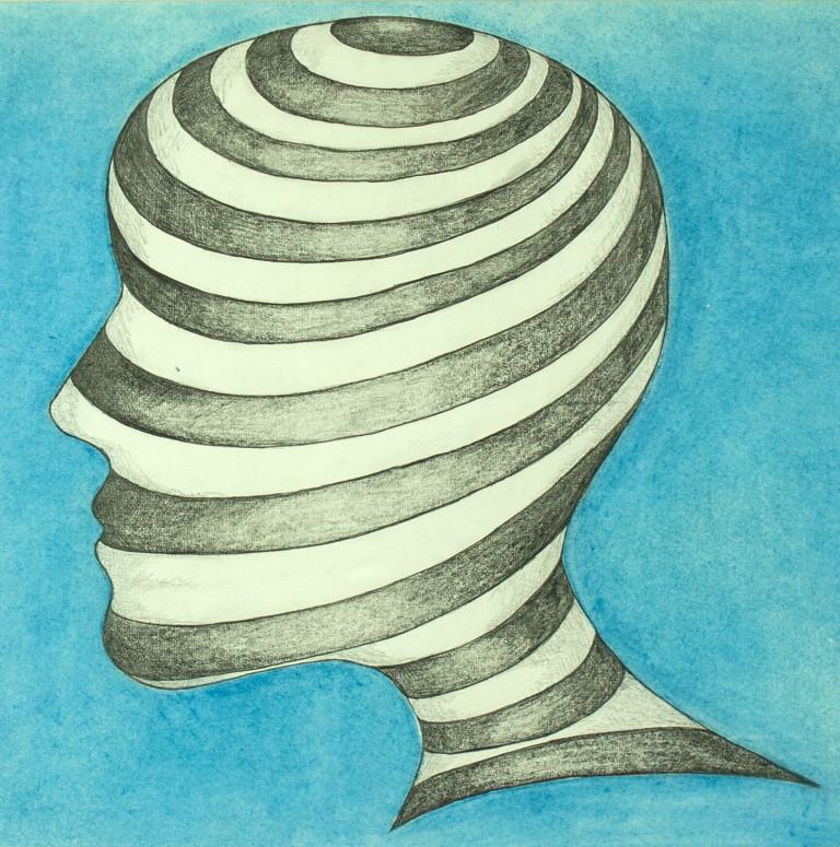 Obraz| Hlava ve spirále | na prodej