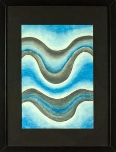 Vlnky v modré